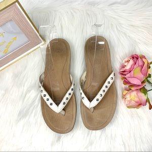 UGG Studded Sandals White Size 9